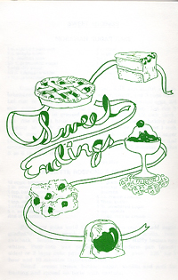 cook book page sweet things